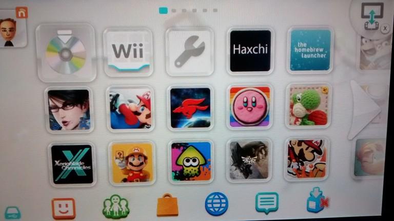 El canal de Haxchi instalado en Wii U