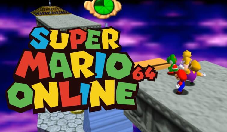 Variedad de personajes en Super Mario 64 Online