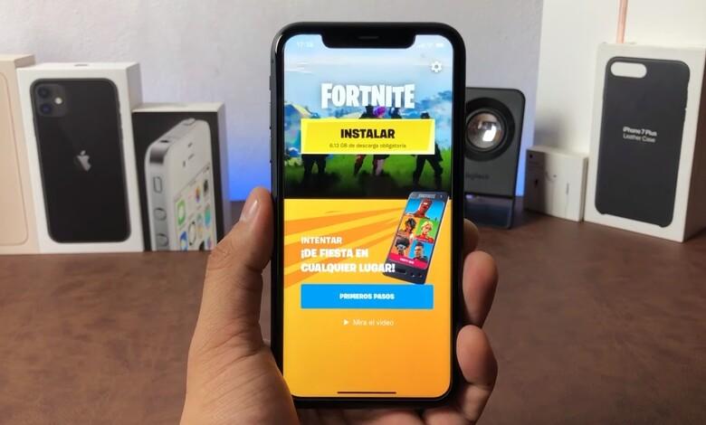 iPhone con Fortnite