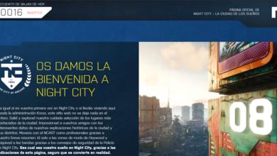 Photo of Cyberpunk 2077 lanza sitio web de la ciudad Night City